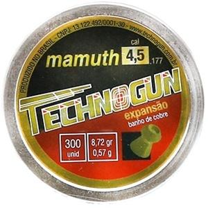 Chumbinho Technogun Mamuth - Cal. 4,5mm - Emb. com 300un