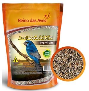 Ração Reino das Aves Azulão Gold Mix 500 gr c/ 01 un.