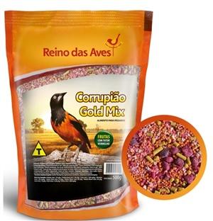 Ração Reino das Aves Corrupião Gold Mix 500 gr  c/ 01 un.