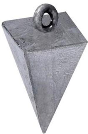Chumbada Fisgão Pirâmide Nº 3 80 gramas c/ 01 un.