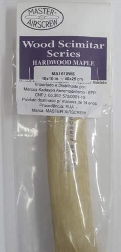 HELICE DE MADEIRA SCIMITAR P/ AEROMODELO 16X10 MASTER AIRSCREW