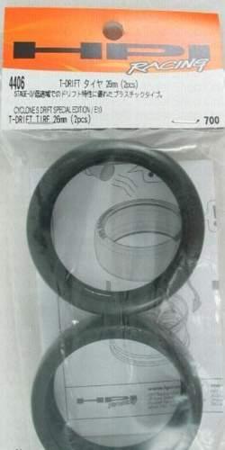 PNEU PARA DRIFT 26mm (2PÇS) PARA AUTOMODELO ON-ROAD HPI