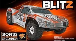 AUTOMODELO ELETRICO BLITZ RTR COM RADIO 2.4GHZ 1/10 HPI