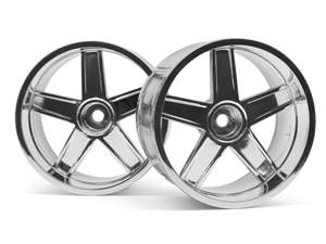 LP29 WHEEL MF TYPE CHROME (3mm HPI