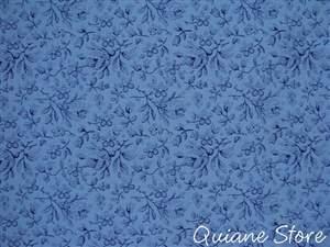 Tecido Estampado Mini Flores Delicadas Cor Azul