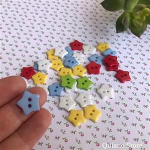 Kit 20 Botões Importados em forma de Estrela