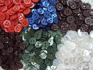 50 botões de costura kit com 5 cores