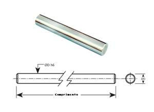 Eixo Linear Retificado - Temperado - Cromado 20h7 ( preço por mm )