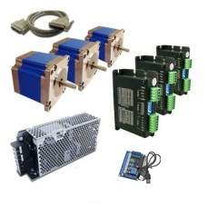 Kit Eletrônica CNC Motores NEMA 34 - 3 Eixos - 50Kgf