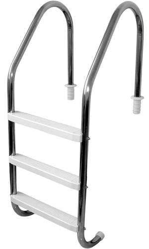 Escada para piscina com 3 degraus abs